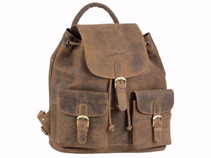 Bild von Vintage Leder Rucksack